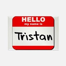 Hello my name is Tristan Rectangle Magnet