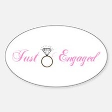 Just Engaged (Diamond Ring) Oval Decal