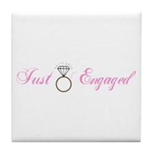 Just Engaged (Diamond Ring) Tile Coaster