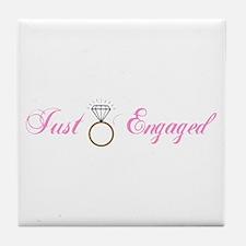 Just Engaged (Diamond Ring) Tile Coaster