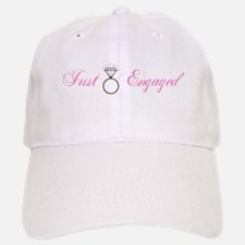 Just Engaged (Diamond Ring) Baseball Baseball Cap