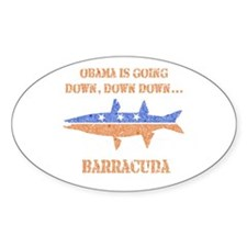 Obama is Going Down Vintage B Oval Decal