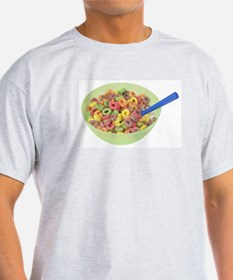 Some Fruity Cereal On Your Ash Grey T-Shirt
