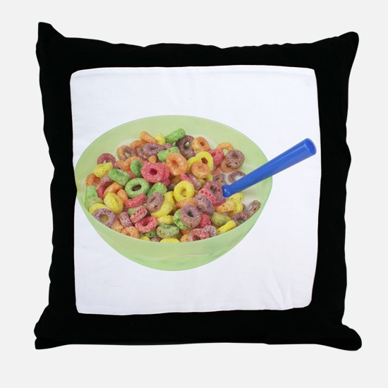 Some Fruity Cereal On Your Throw Pillow