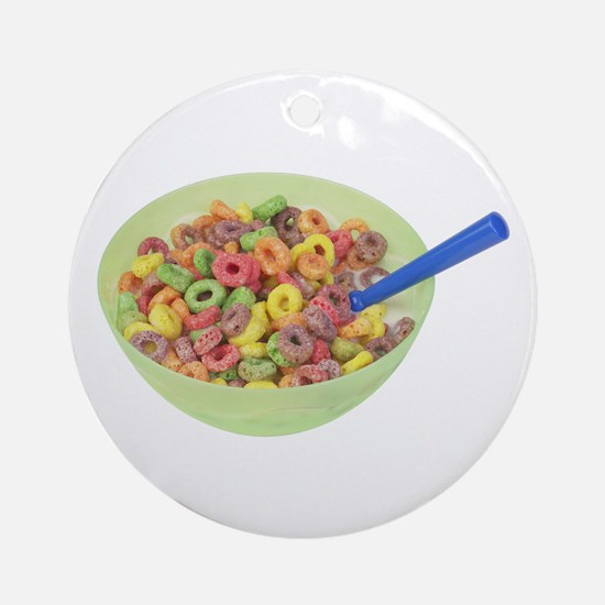 Some Fruity Cereal On Your Keepsake (Round)