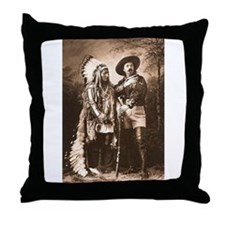 Buffalo Bill and Sitting Bull, 1885 Throw Pillow