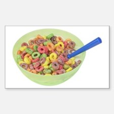 Some Fruity Cereal On Your Rectangle Decal