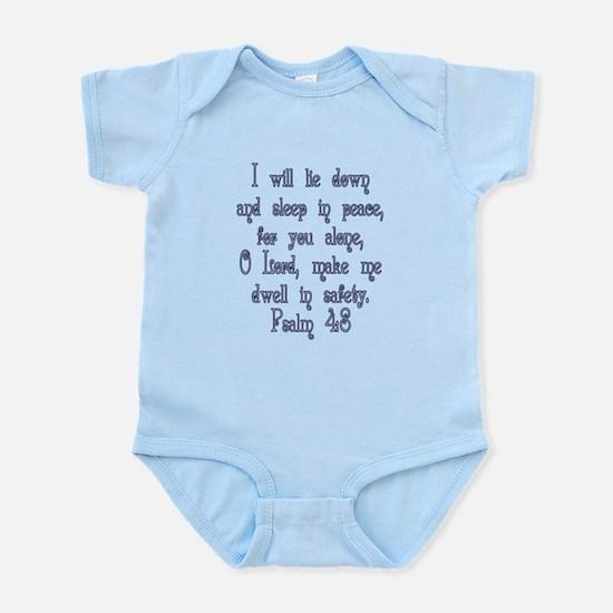 Psalm 4:8 Infant Bodysuit
