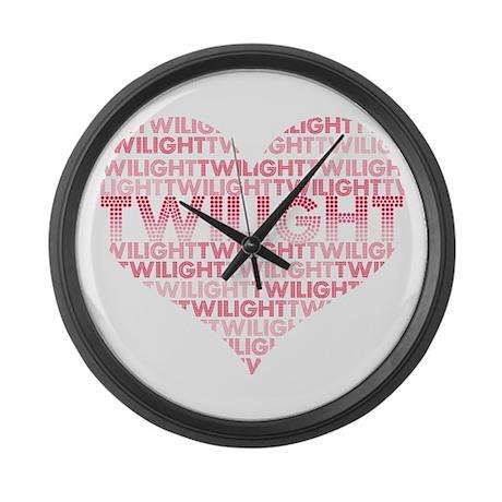 Twilight Is Love Large Wall Clock