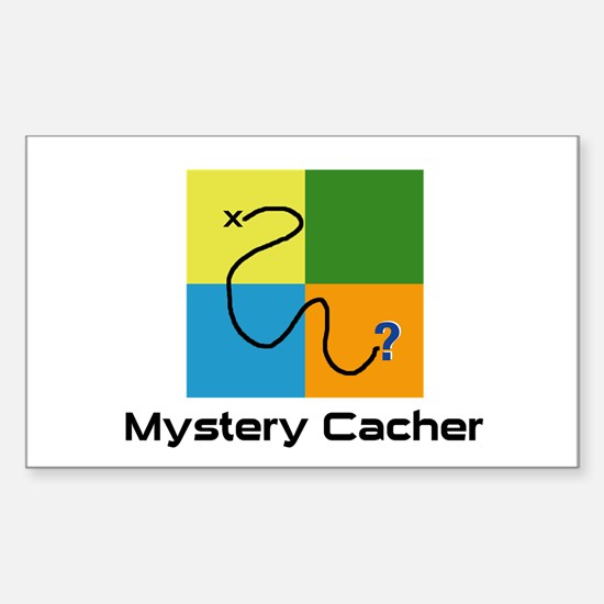 Mystery Cacher Rectangle Decal
