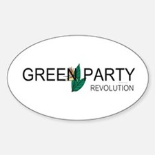 Green Party Sticker (Oval)