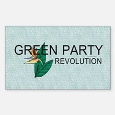 Green Party Sticker (Rectangle)