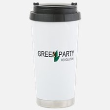 Green Party Stainless Steel Travel Mug