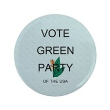 """Green Party 3.5"""" Button"""