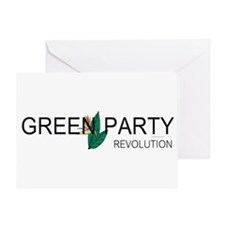 Green Party Greeting Card