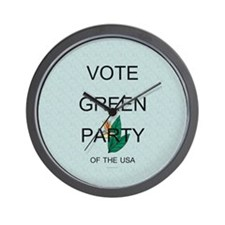Green Party Wall Clock