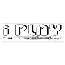I Play Flute Bumper Bumper Sticker