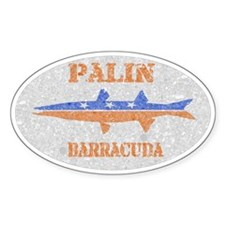 Sarah Palin Barracuda Vintage Oval Decal