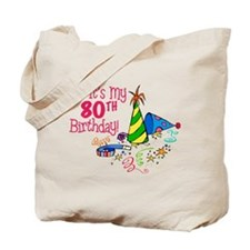 It's My 80th Birthday (Party Hats) Tote Bag