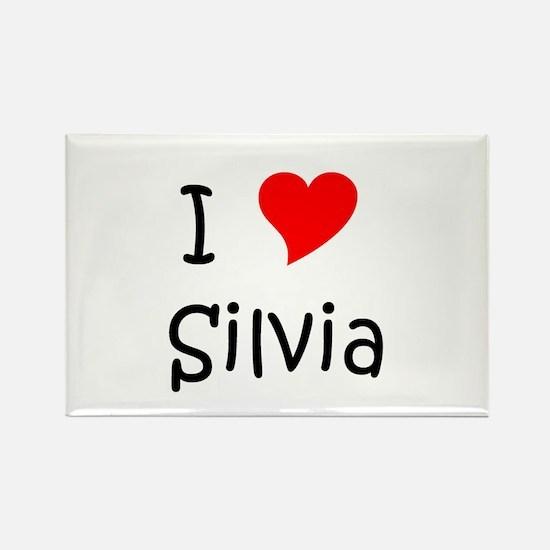 Cute Silvia Rectangle Magnet