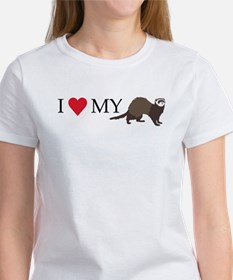 I Love My Ferret Women's T-Shirt