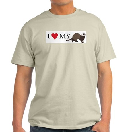I Love My Ferret Light T-Shirt