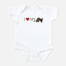 I Love My Ferret Infant Bodysuit