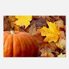 Pumpkin and Leaves Postcards (Package of 8)