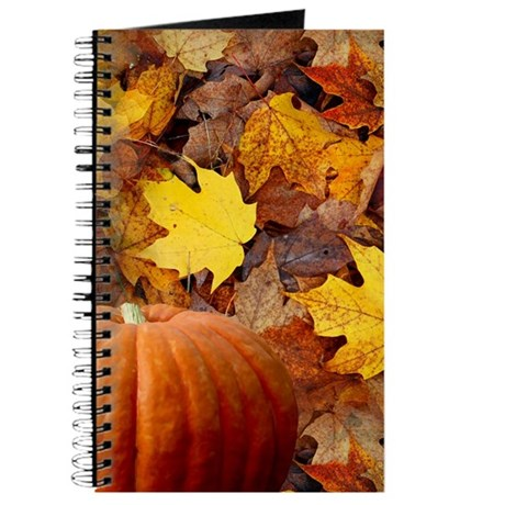 Pumpkin and Leaves Journal