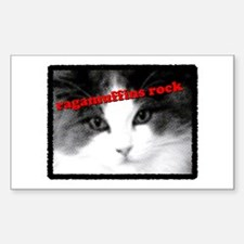 CAT - Ragamuffins Rock Rectangle Decal