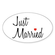 Just Married (Black Script w/ Heart) Decal