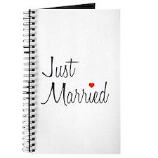 Just Married (Black Script w/ Heart) Journal