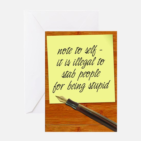 NoteToSelf Greeting Cards