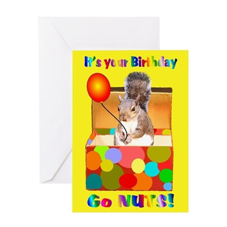 Squirrel Birthday Greeting Card