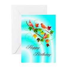Cardinals Birthday Greeting Card