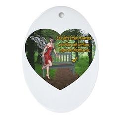 Fairy Breath Oval Ornament