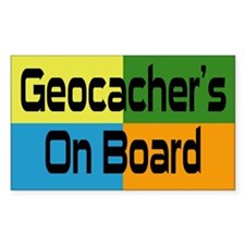 Geocacher's Rectangle Decal