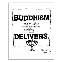 Buddhism Delivers (large) Posters