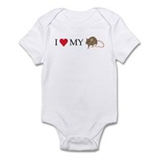 I Love My Rat (1) Infant Bodysuit
