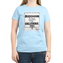 Buddhism Delivers (large) Women's Pink T-Shirt