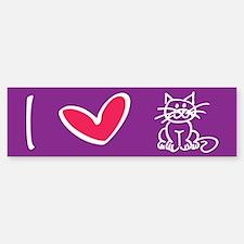 I Heart Cats Bumper Bumper Bumper Sticker
