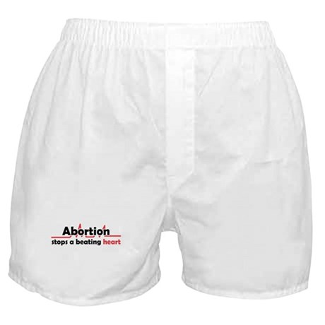 Abortion stops heart Boxer Shorts