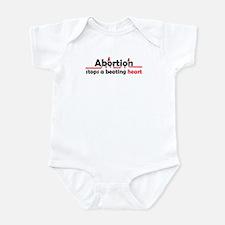 Abortion stops heart Infant Bodysuit