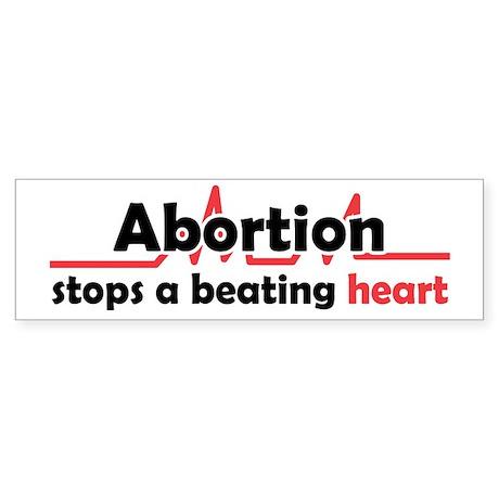 Abortion stops heart Sticker (Bumper)
