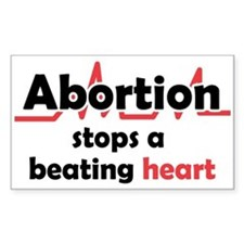 Abortion stops heart Decal