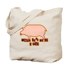Pig with Lipstick Tote Bag