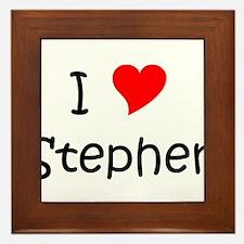 Cute Stephen Framed Tile