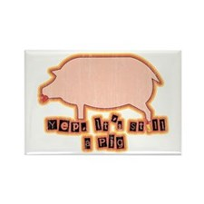 Retro Pig with Lipstick Rectangle Magnet (100 pack