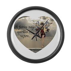 Fairy Sparkle Large Wall Clock