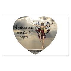 Fairy Sparkle Rectangle Sticker 10 pk)
